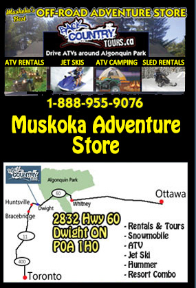 Back Country Tours Snowmobiling at Edgewater Park Lodge Muskoka