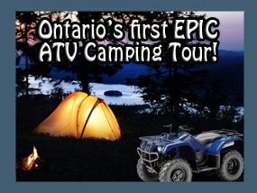 atv camping in muskoka after staying at your resort, hotel or motel come with us camping in muskoka on atvs