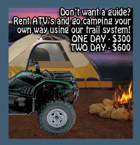 atv camping muskoka after staying at your accommodation - hotel motel resort come with us atv camping!
