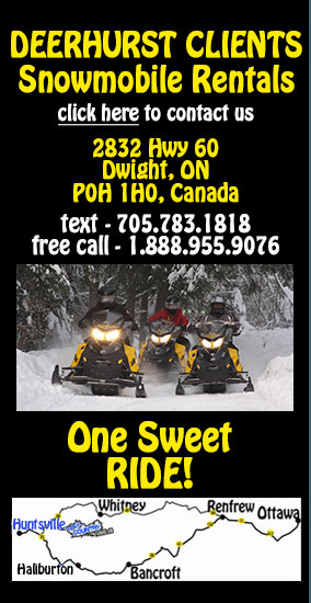 Back Country Tours Snowmobiling at Deerhurst Resort Muskoka