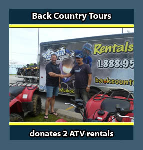 Donations by Back Country Tours ATV Snowmobile specialists in Ontario