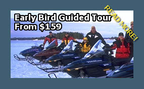 snowmobile guided tours from your accommodation in muskoka hotel, resort, motel