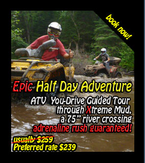 Back Country Tours ATV at Pinestone Resort Haliburton