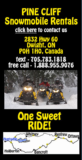 Back Country Tours Snowmobiling at Pine Cliff Resort Muskoka