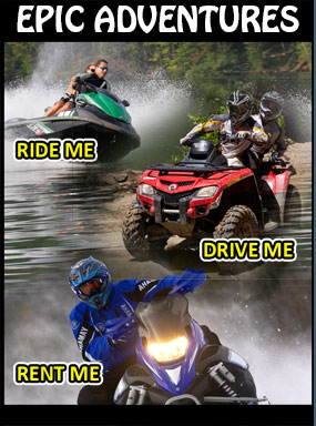 ride drive rent snowmobiles jet skis and atvs muskoka