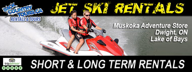 short term jet ski rentals muskoka haliburton