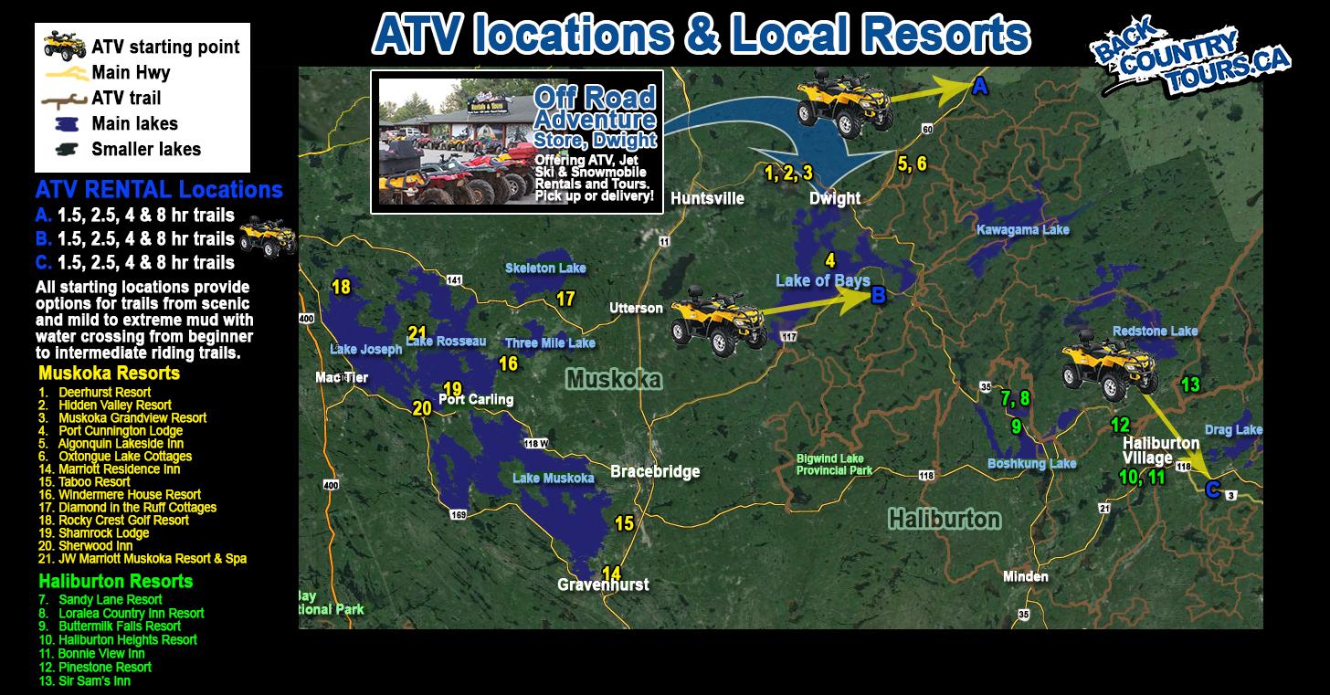 Atv Rentals Amp Trails In Muskoka Ontario Muskoka Adventure