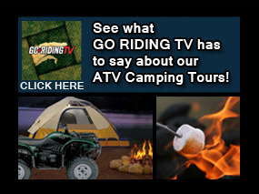 go riding tv takes an atv camping trip with back country tours
