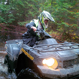 stagette and bachelorette party ideas toronto to muskoka or haliburton ATV